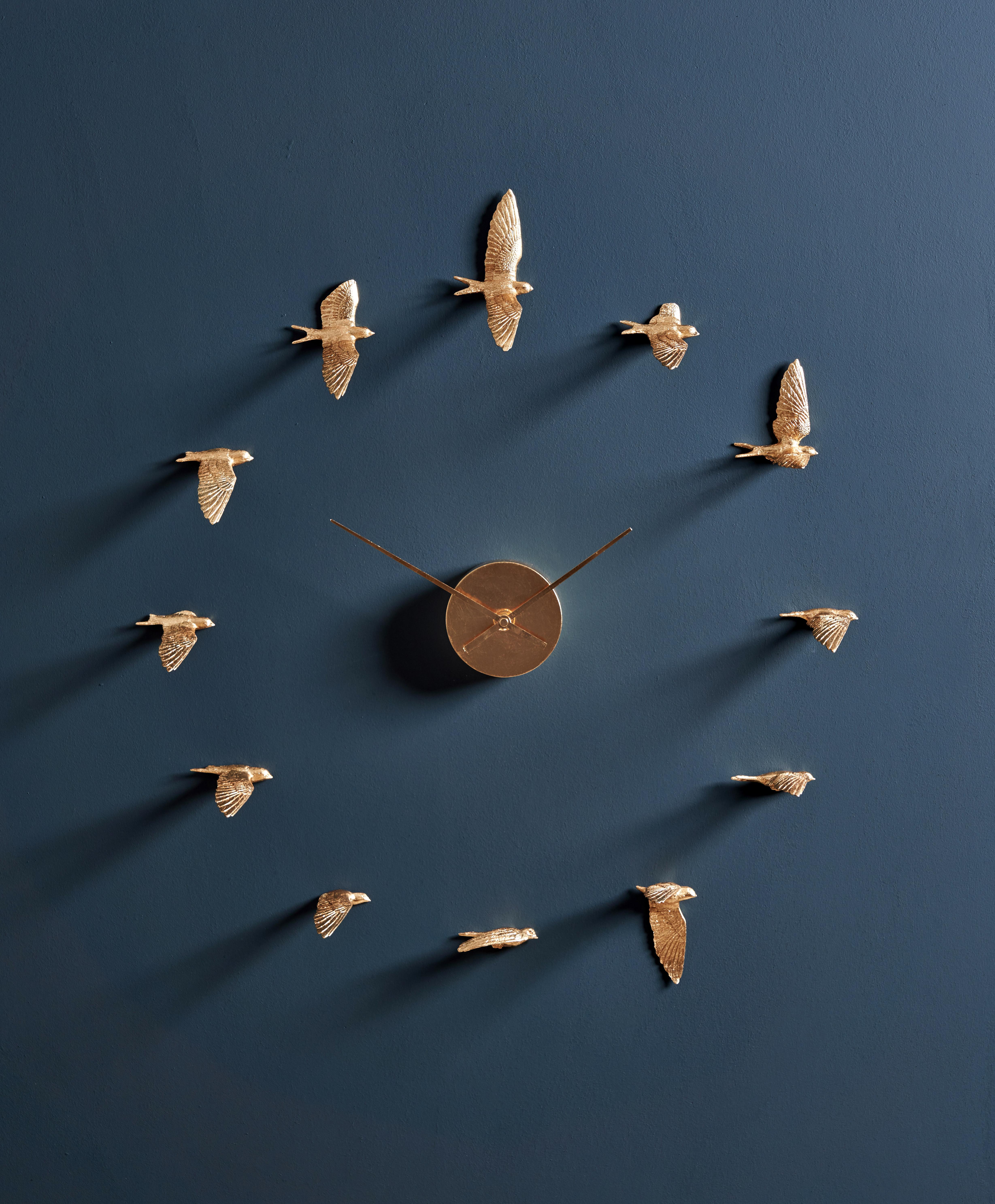Luxury Gilded swallow X clock