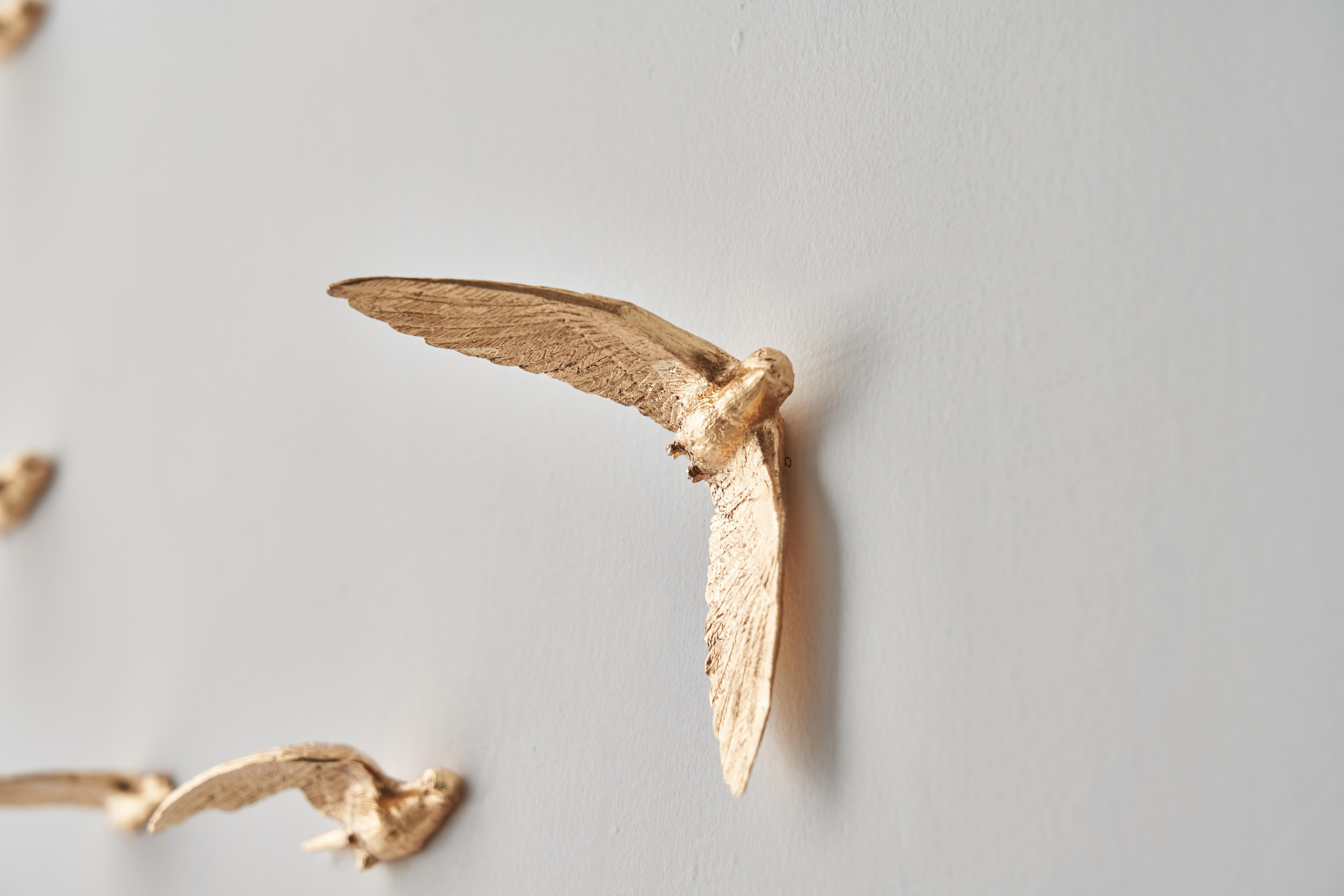 Luxury Wall clock gold bird design