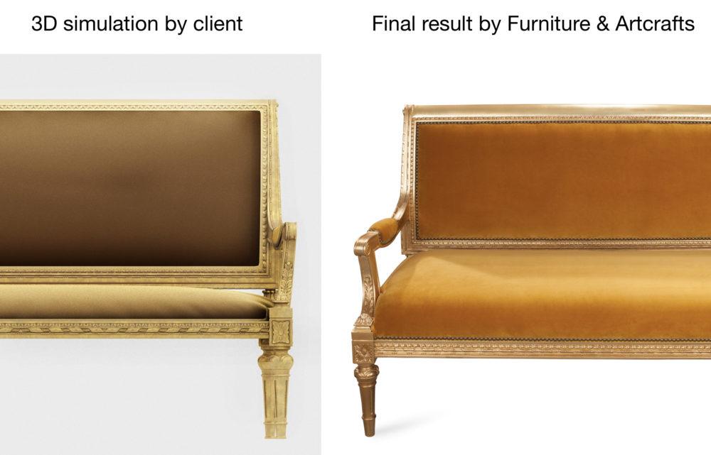Comparison – 3D animation vs Real Sofa Design