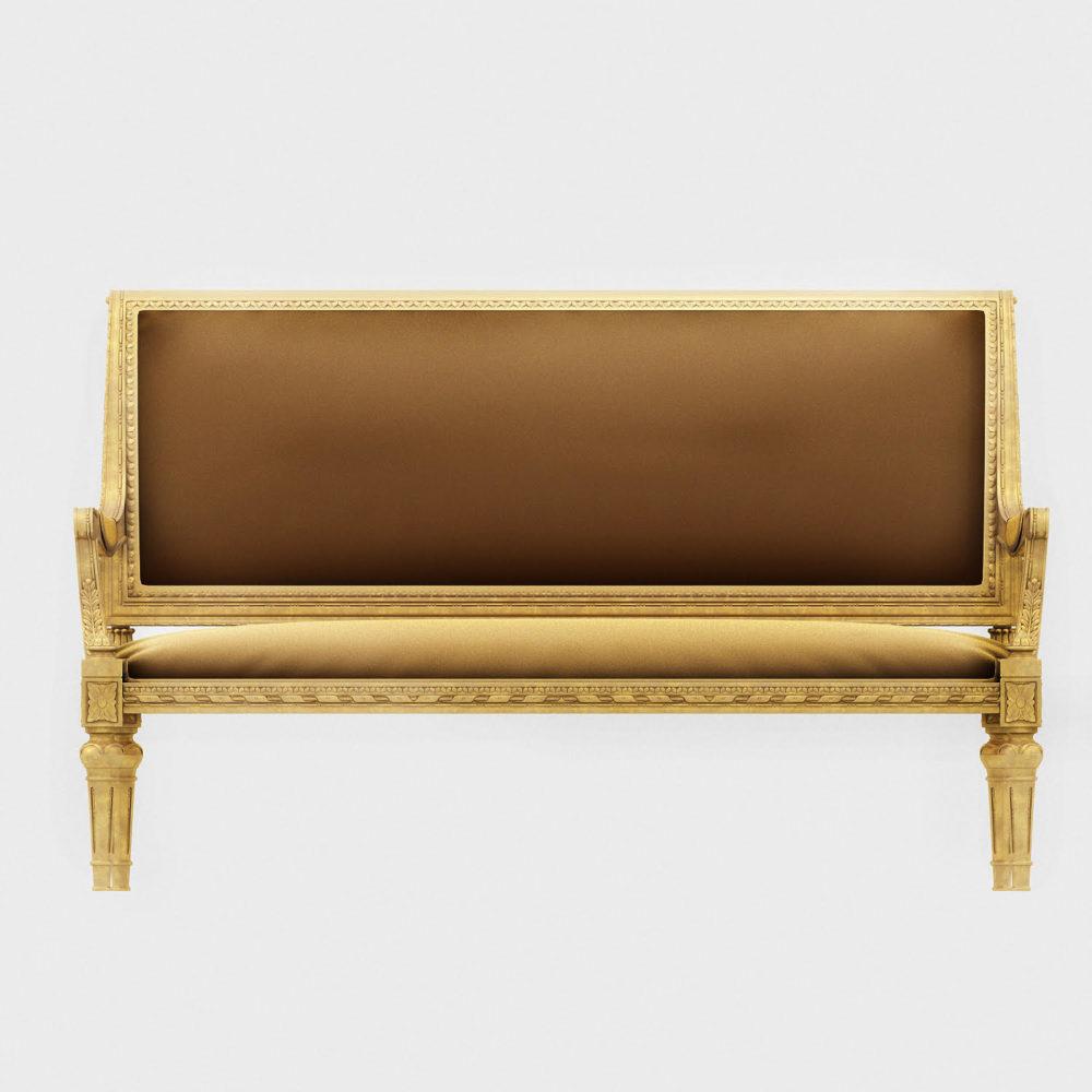 3D Design Sofa - Front